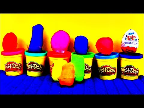 Play Doh Easter Eggs Kinder Surprise The Incredibles Cars 2 Lightning McQueen Hello Kitty