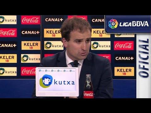 Rueda de Prensa de Arrasate tras el Real Sociedad (3-1) FC Barcelona - HD