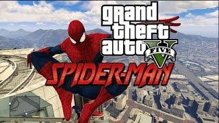 GTA 5 : Spider man in Grand Theft Auto v mods ! (parody)