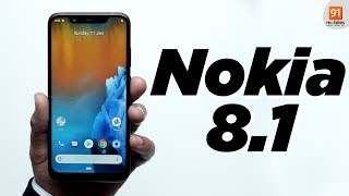 Nokia 8.1: Unboxing | Hands-on  [Hindi हिन्दी]