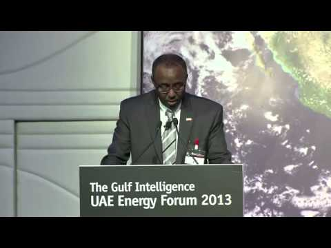 Somaliland Minister of Energy Hussein Abdi At The 4th Gulf Intelligence UAE Energy Forum 2013