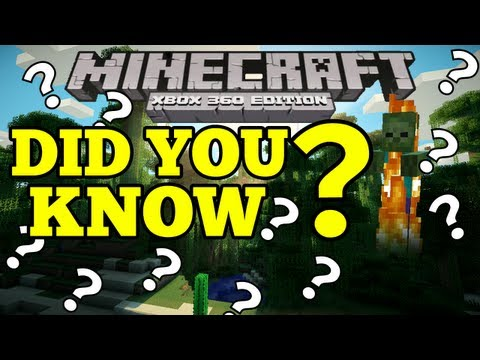 Minecraft (Xbox360) DID YOU KNOW - Daylight Skeletons & Floating Sand