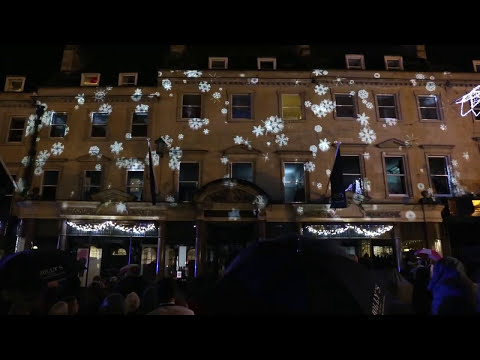 The Bath Christmas Lights switch-on 2014 - Jolly's Video Mapping Light Show