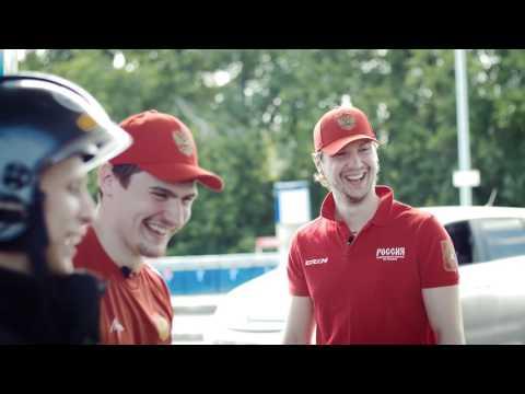 Хоккеисты НХЛ на АЗС Газпромнефть