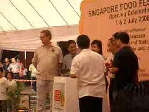 singapore food festival opening ceremony at takashimaya