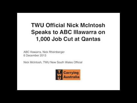 ABC Illawarra: 1000 job cut at Qantas