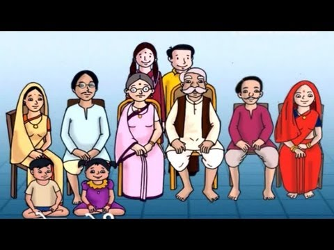 Hindi Lessons | Family Relations Names For Children's | HD