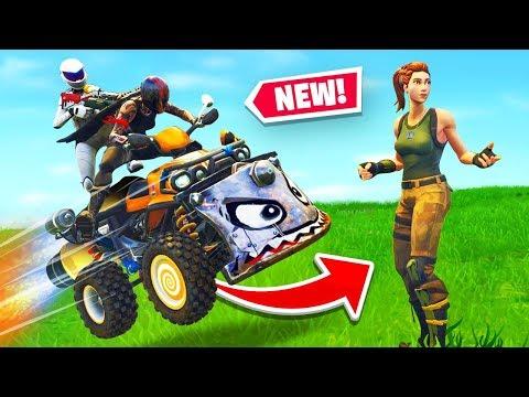 Fortnite Got A *NEW* Vehicle The Quadcrasher!