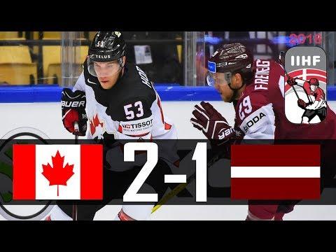Canada vs Latvia   2018 IIHF Worlds Highlights   May. 14, 2018