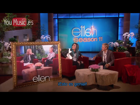 Demi Lovato en Ellen Degeneres Show (La casa encantada) - subtitulado al español