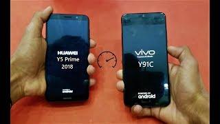 Vivo Y91C vs Huawei Y5 Prime (2018) - Speed Test! -  (HD)