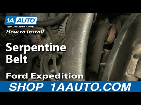 How To Install Replace Serpentine Belt Ford F-150 Expedition 97-03 1AAuto.com