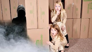 ESCAPING Hacker's Box Fort Mansion!! All skits in one