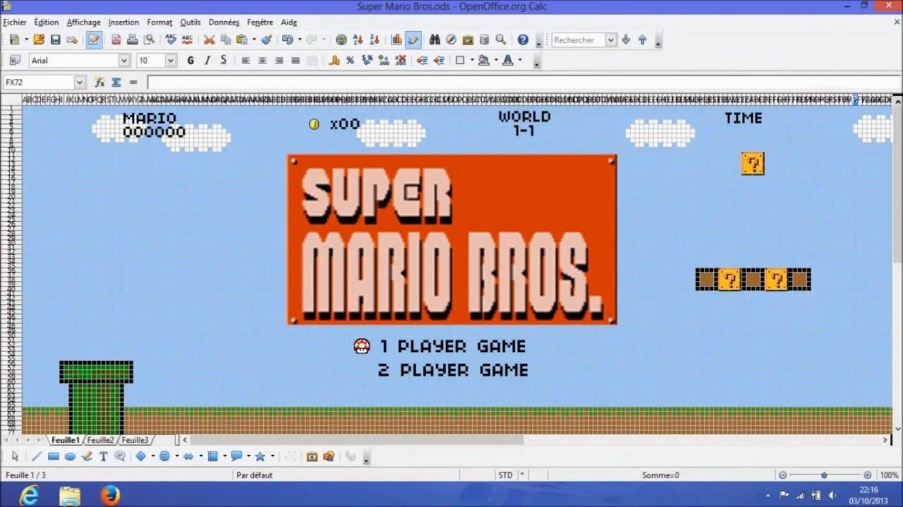 Super Mario: Microsoft Excel Edition