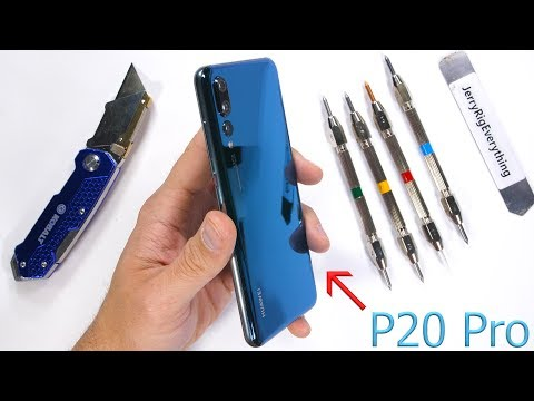 Huawei P20 Pro Durability Test! - Scratch, Burn, BEND TESTED