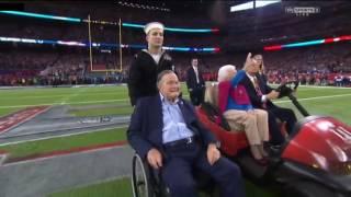 President Bush Super Bowl LI Coin Toss