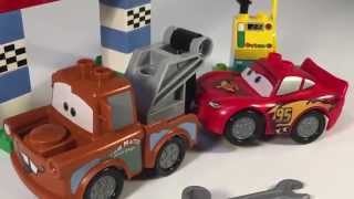 Тачки! Amelia with Mater and Lightning cars best friends!