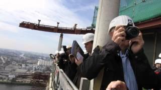 Elbphilharmonie Dach von oben Ausblick