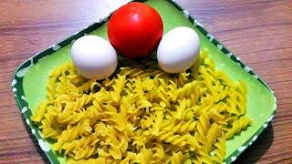 pasta with egg & tomato bangla recipe