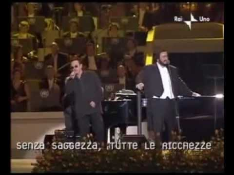 Pavarotti &amp; Bono - Ave Maria - The War Child Benefit concert, May 2003
