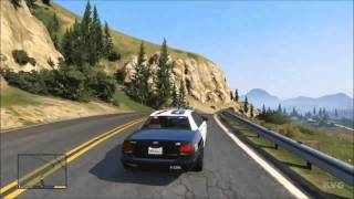 Grand Theft Auto 5 - Police Car Driving Gameplay [HD]
