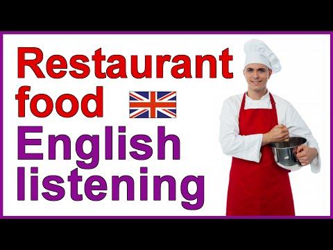 English listening exercise - Restaurant food
