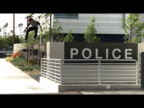 PETER VILLALBA SKATING POLICE STATION GAP !!! - A DAY WITH NKA -