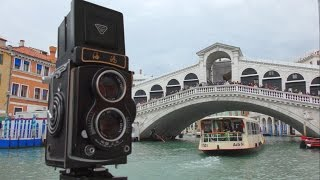 Seagull TLR Camera in Venice Italy max may tz video