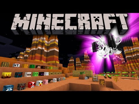 Minecraft 1.7 Snapshot: Summon New Mob Heads Mini Blocks Exploding Dragons Instant House