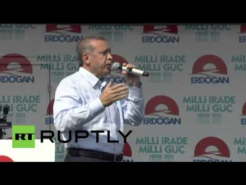 Turkey: Erdogan holds final rally before presidential elections