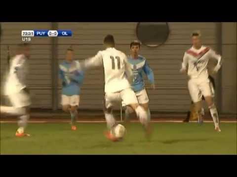 Arrêt du gardien de but Rémi Molimard - 73ème minute - Journée 21 - Championnat U19 National - Le Puy Foot 43 / Olympique Lyonnais.