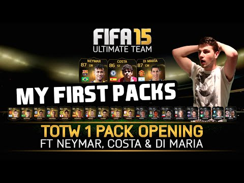 FIFA 15 | MY FIRST PACKS! Feat. Neymar, Costa and Di Maria!
