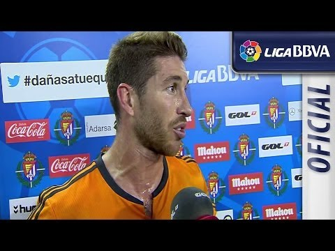 Interview Ramos after Real Valladolid (1-1) Real Madrid - HD