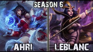 Best Ahri Korea vs Leblanc MID Ranked Challenger