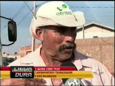 Caminhoneiros não conseguem receber por serviços prestados em assentamento