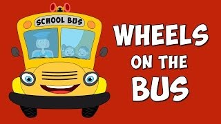 Wheels Of The Bus Go Round And Round Nursery Rhyme for Children