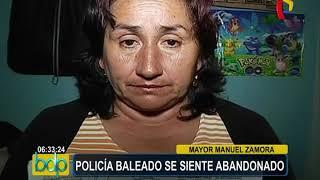 Policía baleado en el Callao hace 3 años se siente abandonado