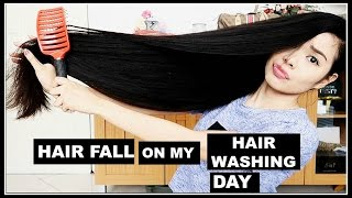 MY HAIR FALL COUNT ON MY HAIR WASHING DAY- You Guys Were Right-Beautyklove