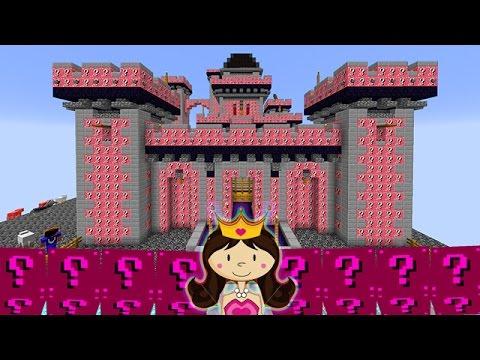 LUCKY BLOCKS PRINCESS SKY CASTLE BLOCKS! Minecraft Lucky Blocks Modded Mini-Game