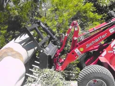 Schaffer articulated front end loaders in tree work  loppers, arborists, nursery &amp; landscaping