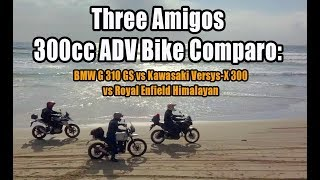 Three Amigos 300cc ADV Bike Comparo: BMW G310GS vs Kawasaki Versys-X 300 vs Royal Enfield Himalayan