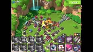 Boom Beach — GM 6/2 (grenadiers+medics) 64/35/42 on 5 ice, 2 shields, live attack