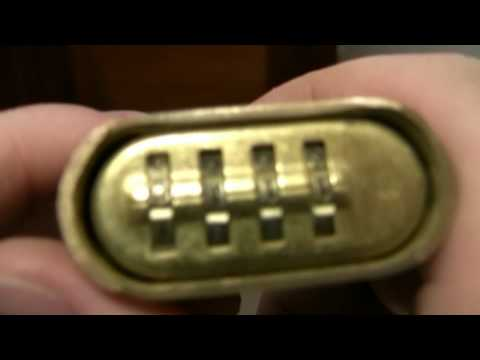 Demo of a master combination padlock.