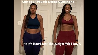 WEIGHT LOSS MOTIVATION - HOW I LOST THE CORONA 15 POUNDS WK2 Day 1