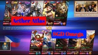 Aether Atlas vs SGD Omega Game 1 Semi Finals | Just ML League Season 1 | Mobile Legends Bang Bang