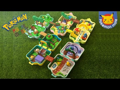 POKÉMON PLAYSET MINI- Vintage Pocket Monster Micro Toy Unboxing from Japan