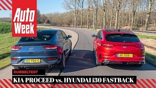 Kia Proceed vs. Hyundai i30 Fastback - AutoWeek Dubbeltest - English subtitles