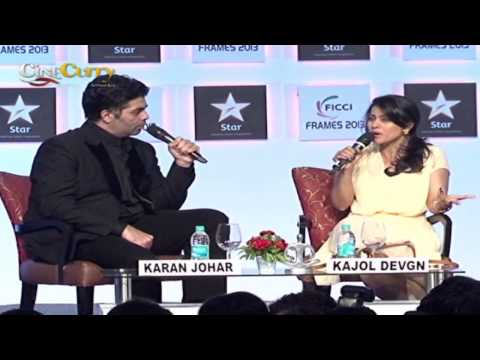 Kajol and Karan Johar at FICCI Frames 2013