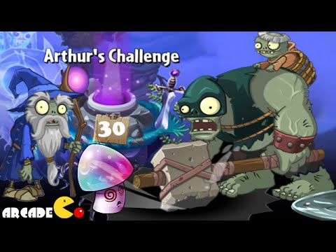Plants Vs Zombies 2 Dark Ages: Part 2 Dark Ages Zombie King Battle Arthurs Challenge Level 30