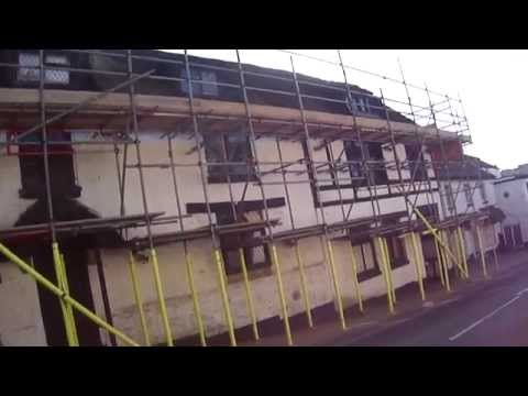 old wax museum - brading - rethatching the old mansion - video update - feb 2013